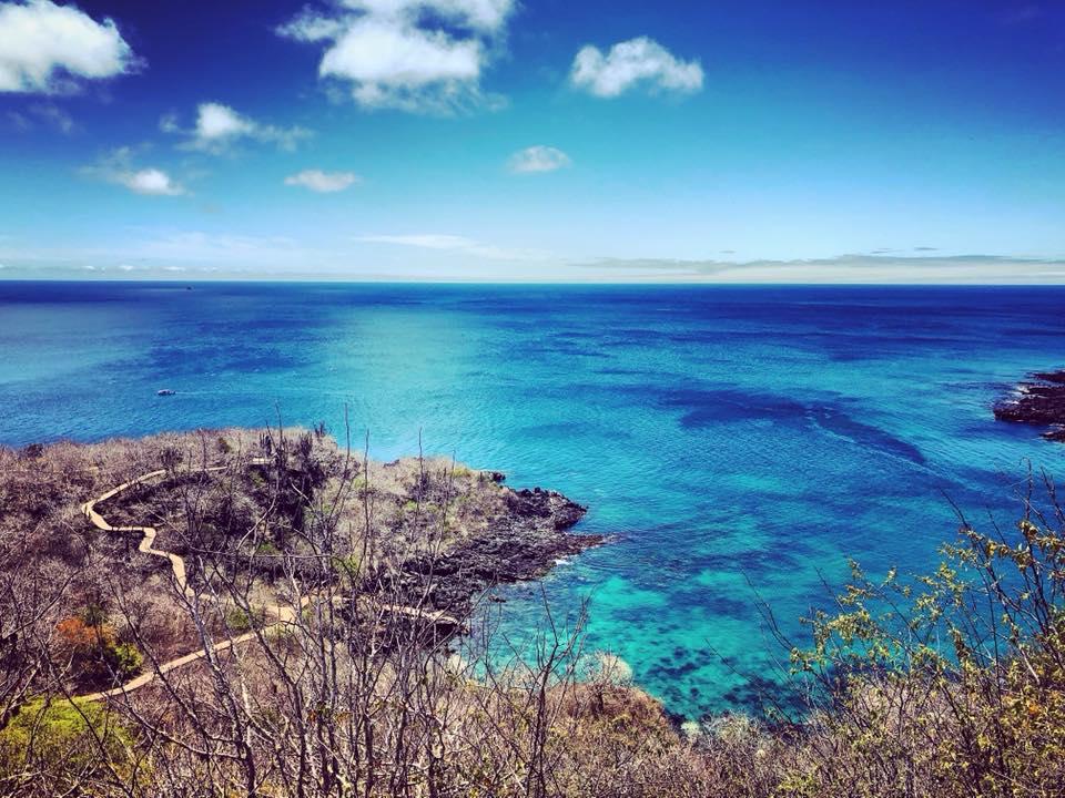 Vista dal Cerro Tijeretas, Isole Galapagos
