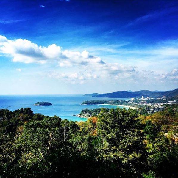 Vista panoramica di Kata e Karon Beach, Andamane