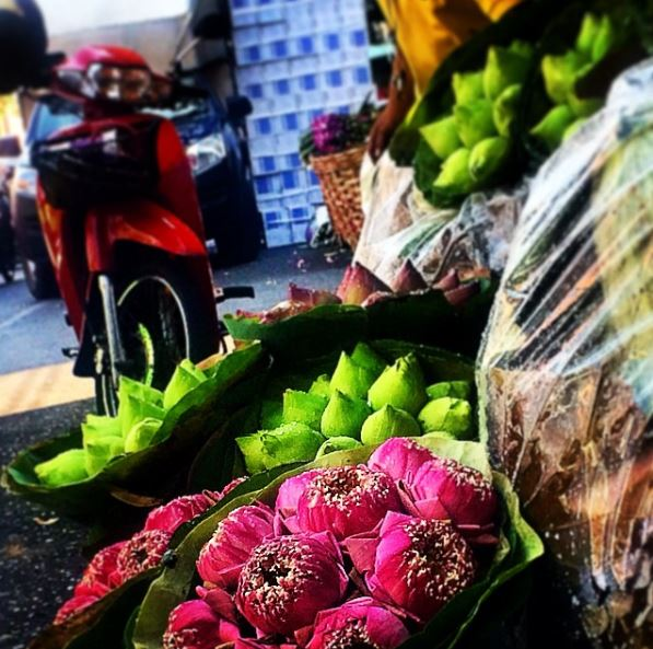Mercato dei fiori di Pak Khlong Talat