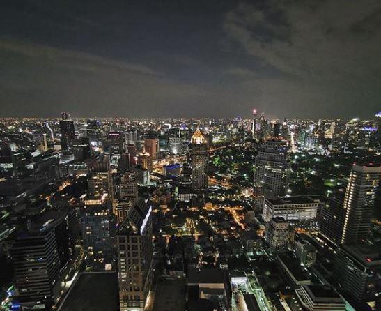 Vista panoramica dal Vertigo & Moon Bar