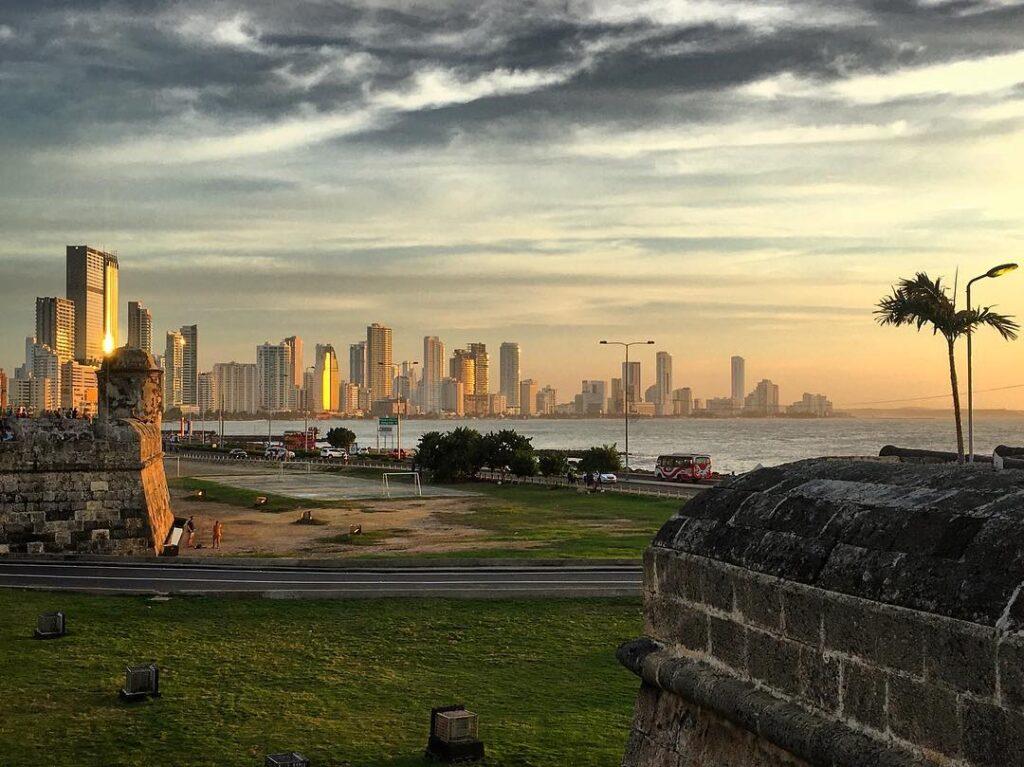 Cartagena, tramonto da Cafè del Mar