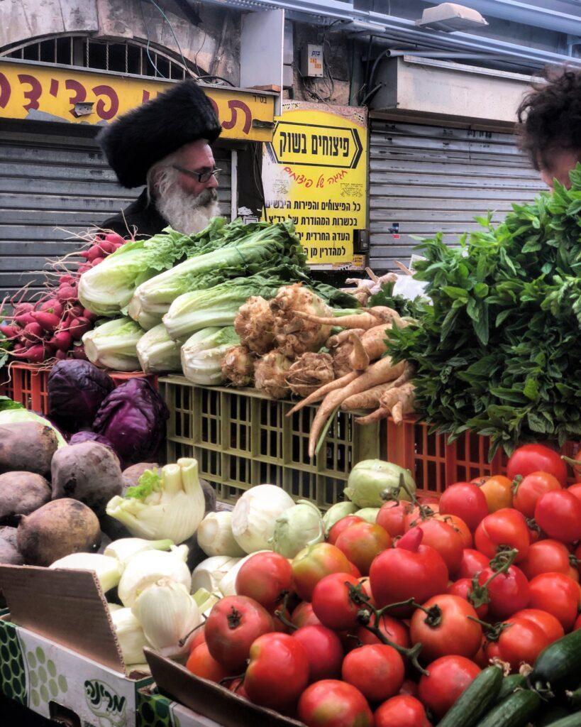Mercato Mahane Yehuda, bancarella