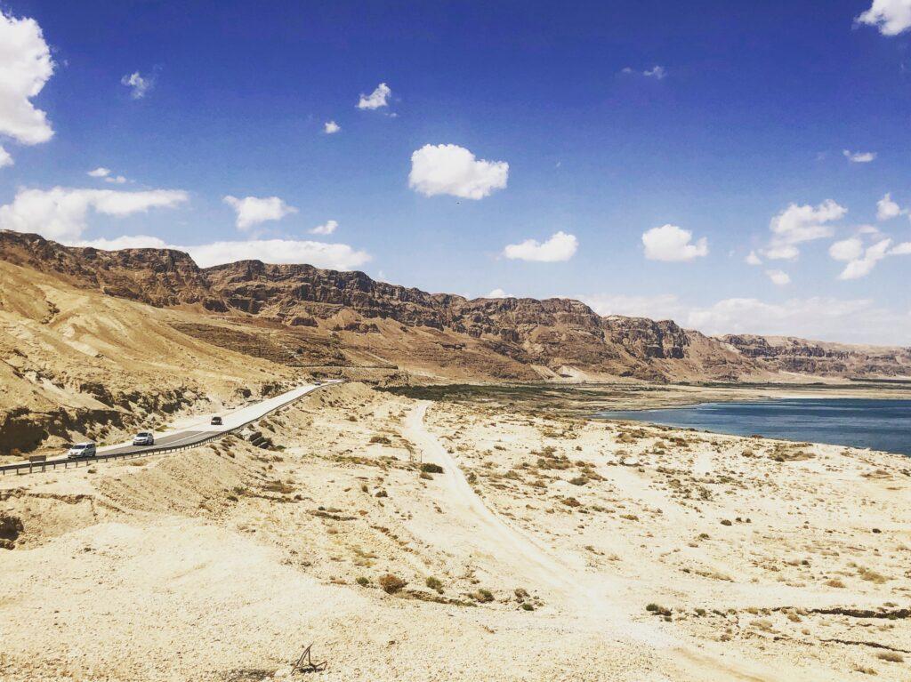 """""""on the road"""" sul Mar Morto, Israele"""