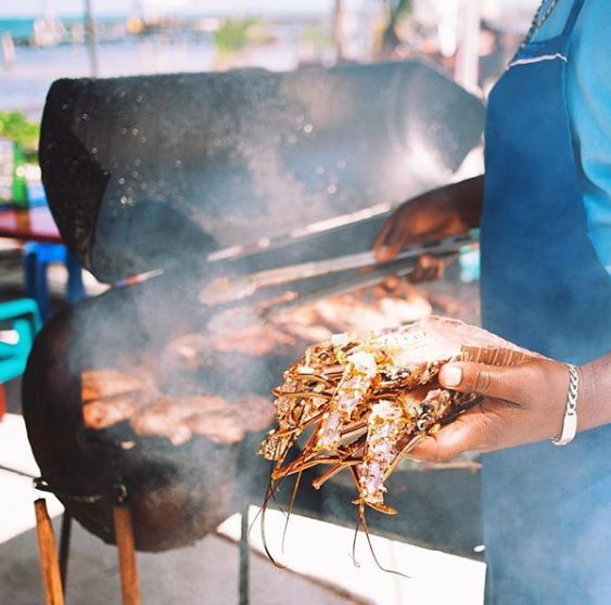 L'aragosta di Chef Kareem's UnBelizeable Lunch