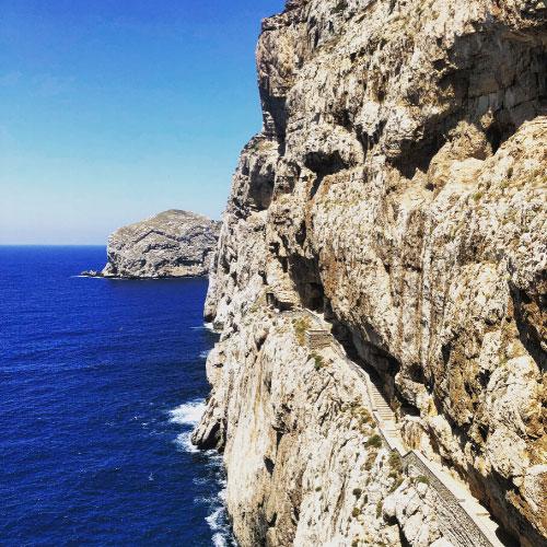 Discesa alle Grotte di Nettuno