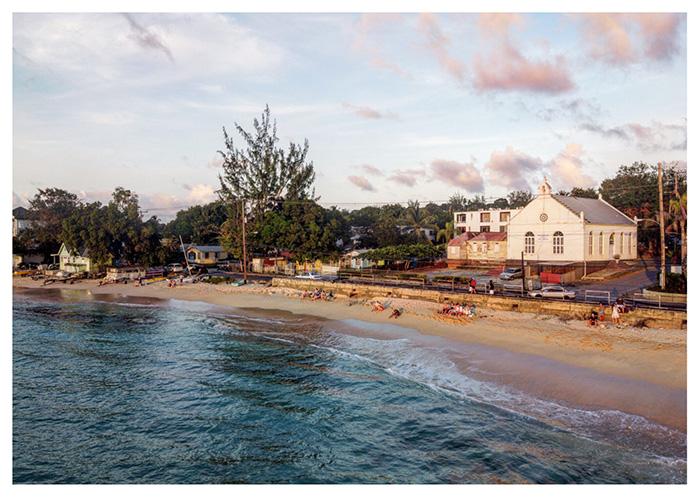 Spiaggia caraibica al tramonto, Barbados