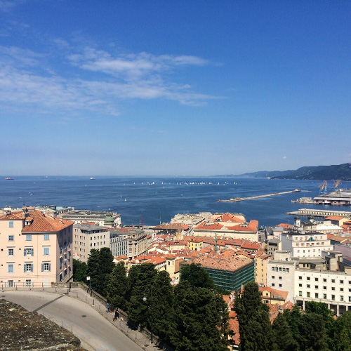 Panorama sulla città di Trieste