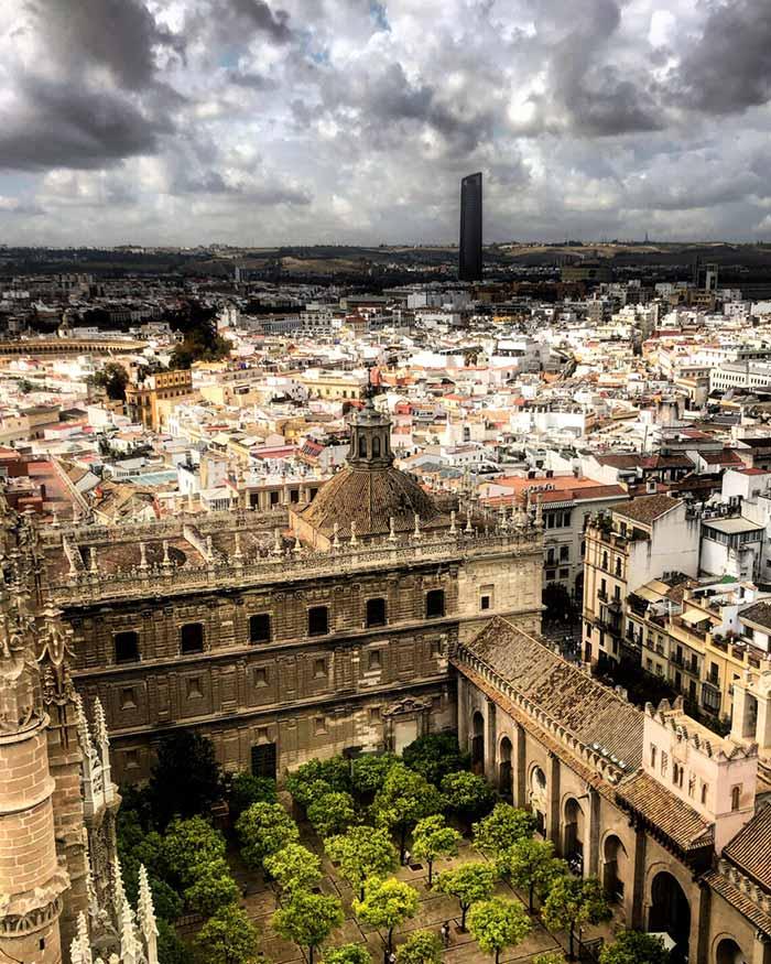 Panorama dalla Cattedrale di Siviglia