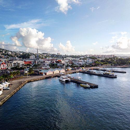 Fort-De-France, capoluogo dell'isola francese di Martinica