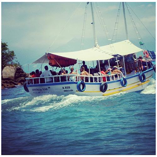 La barca che porta a Ilha Grande