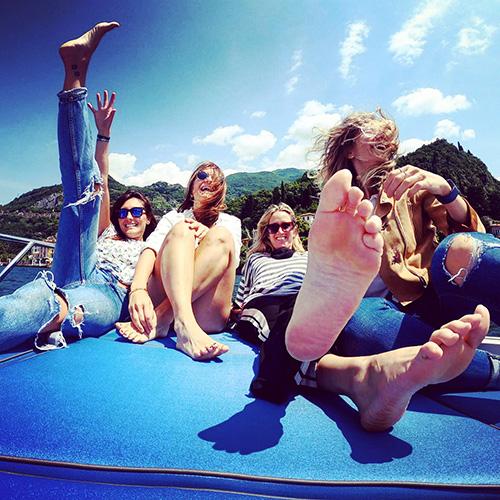 Una gita in barca con le amiche