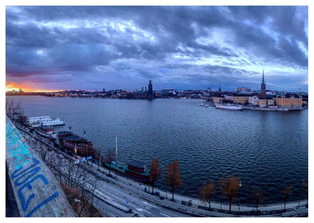 Cosa vedere a Stoccolma: tramonto a Monteliusvägen