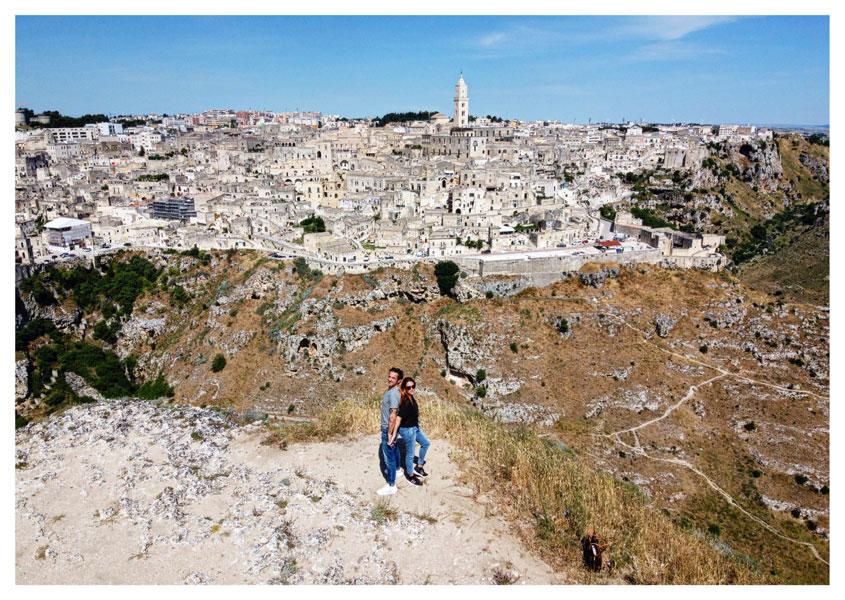 Il belvedere della città di Matera